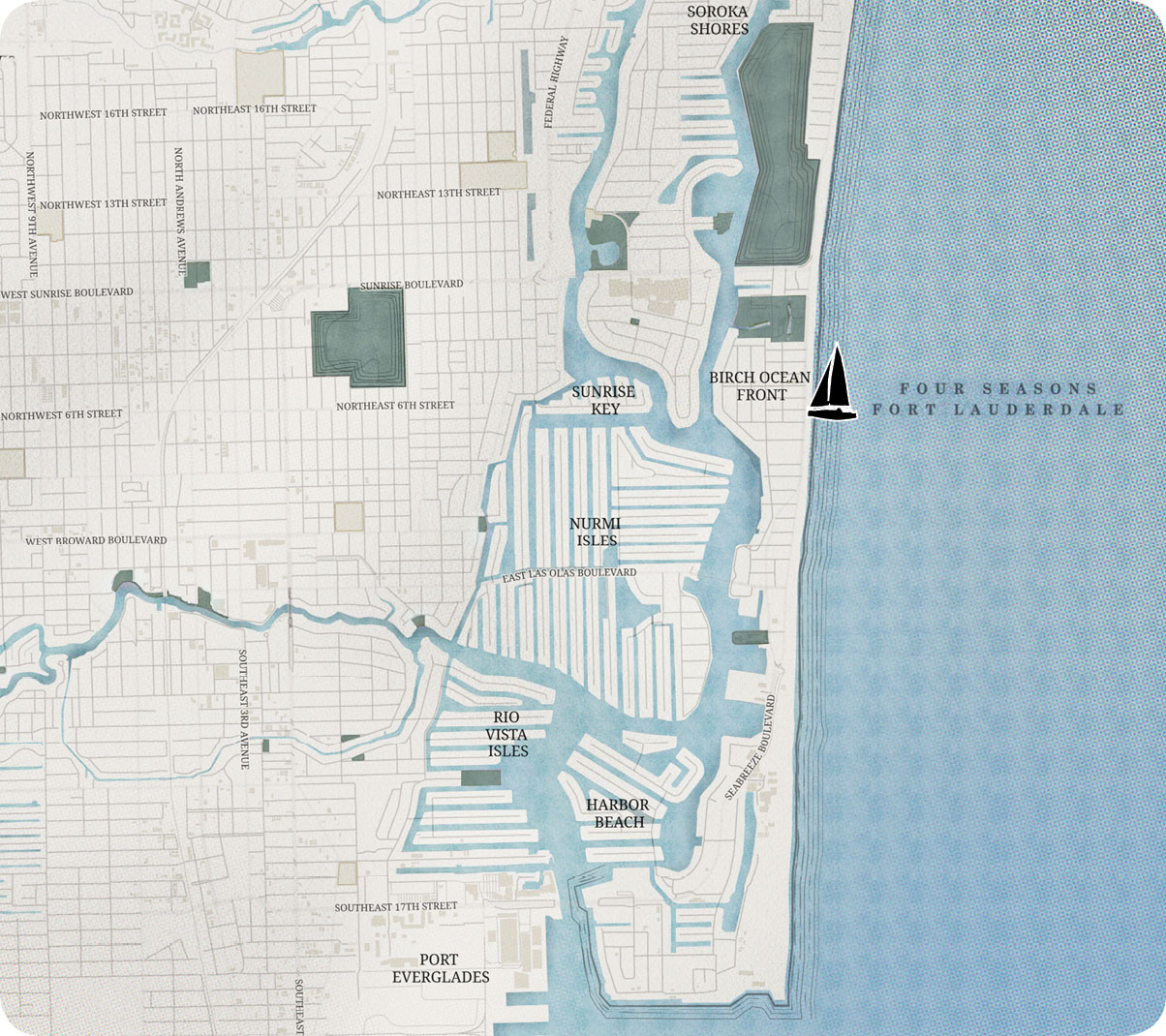 Four Seasons Fort Lauderdale Oceanfront Map